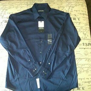 Dark blue Geoffrey Beene button down shirt